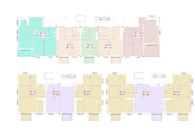 Grundriss Obergeschoss 1 + 2